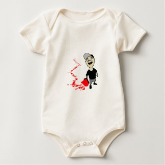 Lubrication finch baby bodysuit