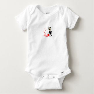 Lubrication finch baby onesie