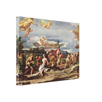 Luca Giordano - Vertumnus and Pomona Canvas Print