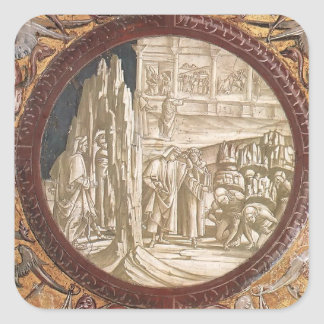 Luca Signorelli: Dante & Virgil Entering Purgatory Square Sticker