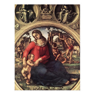 Luca Signorelli- Madonna and Child with Prophets Postcard
