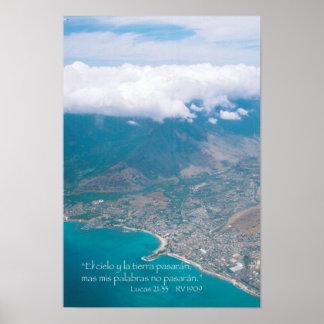 Lucas 21-33 con Oahu desde el aire Poster
