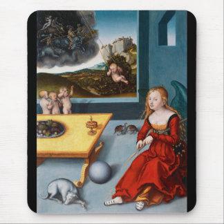 """Lucas Cranach, """"Melancholy"""" Mouse Pad"""