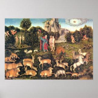 Lucas Cranach the Elder - Paradise Poster