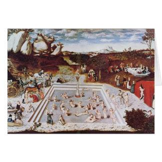 Lucas Cranach the Elder- The Fountain Of Youth Card
