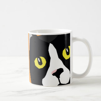 Lucas the cat abstract pop art mug
