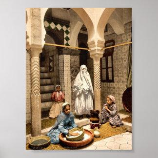 Luce Ben Aben, Moorish women preparing couscous, A Poster