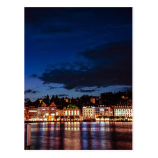 Lucerne by night postcard