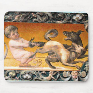 Lucerne - Cupid and a sleigh Mouse Pad