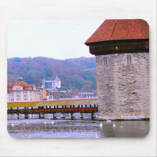 Lucerne - Mill bridge Mouse Pads