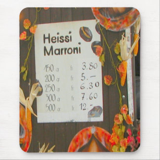 Lucerne - Price list for hot chestnuts Mouse Pad