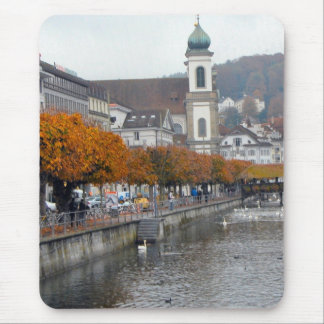 Lucerne - Riverfront and Jesuit Church Mouse Pad