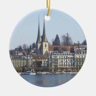 Lucerne Switzerland Ceramic Ornament