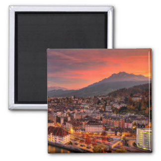 Lucerne Switzerland HDR Fine Art Print Magnet