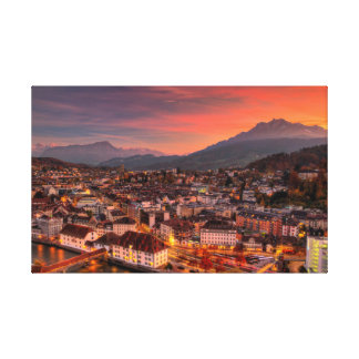 Lucerne Switzerland HDR Fine Art Print Poster