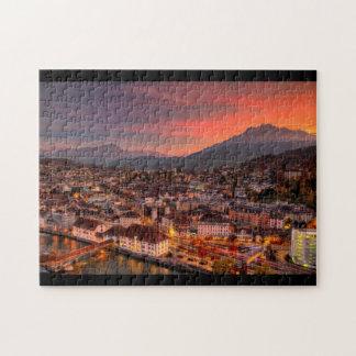 Lucerne Switzerland HDR Fine Art Puzzle