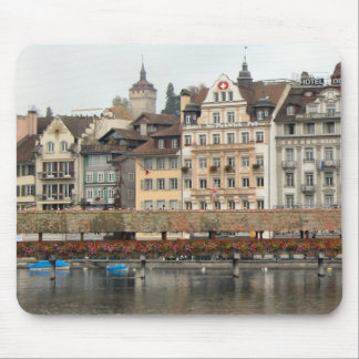 Lucerne - Waterfront and mill bridge Mouse Pad