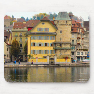 Lucerne - Waterfront buildings Mouse Pad