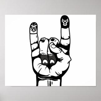 lucha de dedos poster