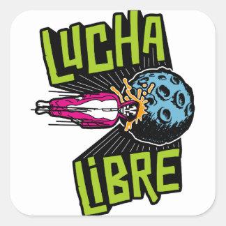 LUCHA IMPACT SQUARE STICKER