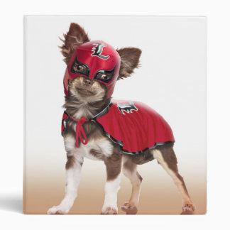 Lucha libre dog ,funny chihuahua,chihuahua 3 ring binders