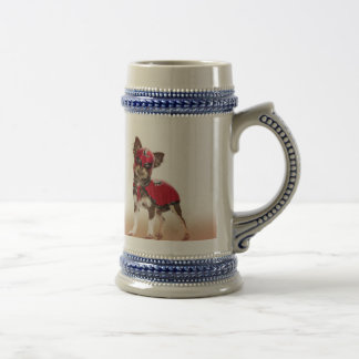 Lucha libre dog ,funny chihuahua,chihuahua beer stein