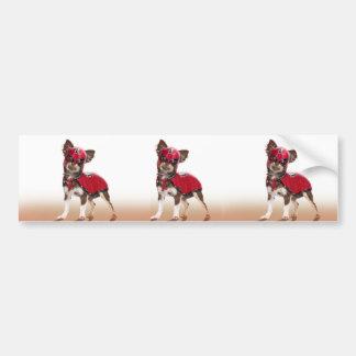 Lucha libre dog ,funny chihuahua,chihuahua bumper sticker