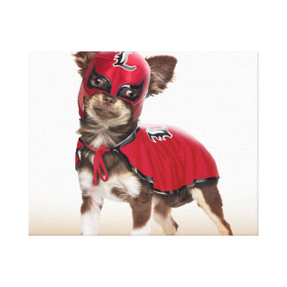 Lucha libre dog ,funny chihuahua,chihuahua canvas print