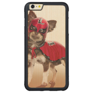 Lucha libre dog ,funny chihuahua,chihuahua carved maple iPhone 6 plus bumper case