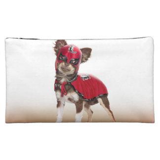 Lucha libre dog ,funny chihuahua,chihuahua cosmetic bag