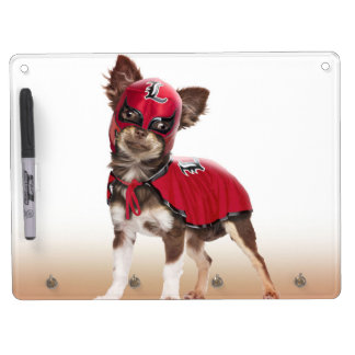 Lucha libre dog ,funny chihuahua,chihuahua dry erase board with keychain holder