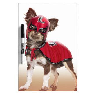 Lucha libre dog ,funny chihuahua,chihuahua dry erase whiteboard