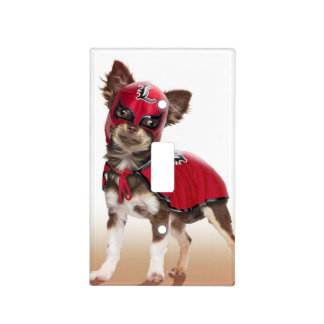 Lucha libre dog ,funny chihuahua,chihuahua light switch cover