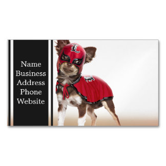 Lucha libre dog ,funny chihuahua,chihuahua Magnetic business card
