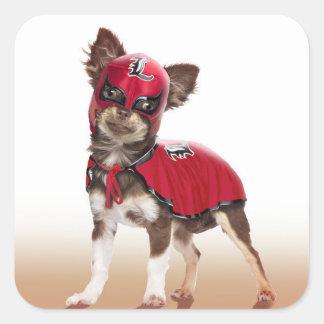 Lucha libre dog ,funny chihuahua,chihuahua square sticker