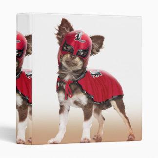Lucha libre dog ,funny chihuahua,chihuahua vinyl binder