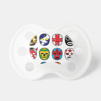 Lucha Libre Luchador Mexican Wrestling Masks Pacifier