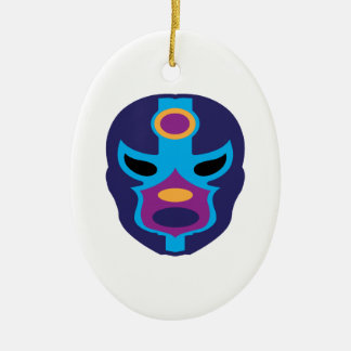 Lucha Libre Mask Ceramic Ornament