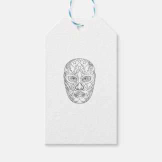 Lucha Libre Mask Tattoo Gift Tags