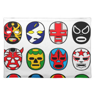 Lucha Libre Mask wrestler Mexican Wrestling Placemat