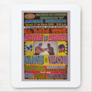Lucha Libre Match Poster Mouse Pad