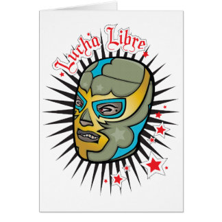 Lucha Libre Mexican Wrestling Mask Card