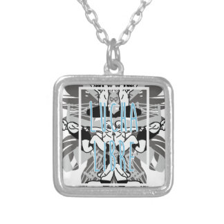 LUCHA LIBRE! SILVER PLATED NECKLACE