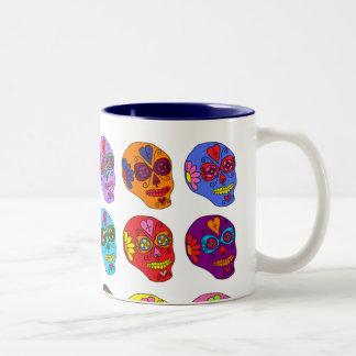 Lucha Libre Sugar Skulls Two-Tone Coffee Mug