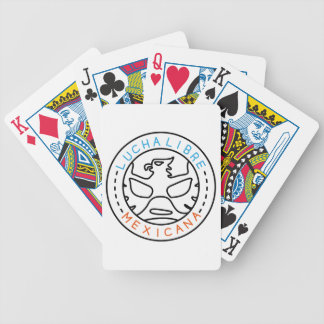 Lucha Logo#1 Bicycle Playing Cards