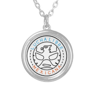 Lucha Logo#1 Silver Plated Necklace