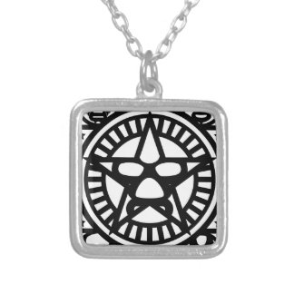 LUCHA MONO SILVER PLATED NECKLACE