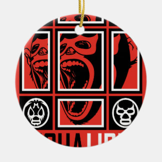 LUCHALIBRE MEXICO CERAMIC ORNAMENT