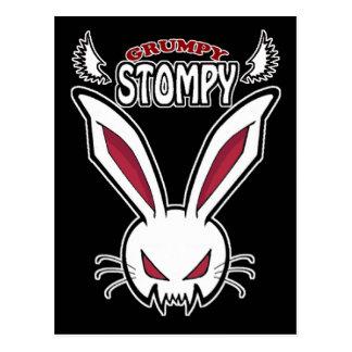 Luci the grumpy stompy postcard
