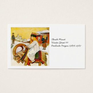 Lucia Rides the Jul Goat Business Card
